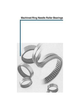 Machined-ring needle roller bearings