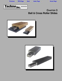 Ball & Cross Roller Slides