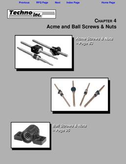 Acme and Ball Screws & Nuts