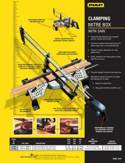 Catalogue: Stanley Hand Tools Clamping Mitre Box with Saw