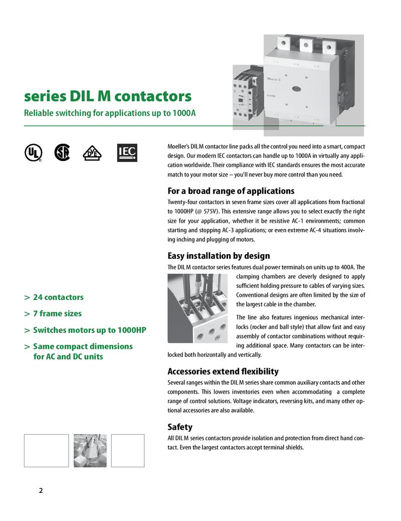 Contactors And Motor Protection By Moeller Electric Usa Iec Contactor Wiring Diagram