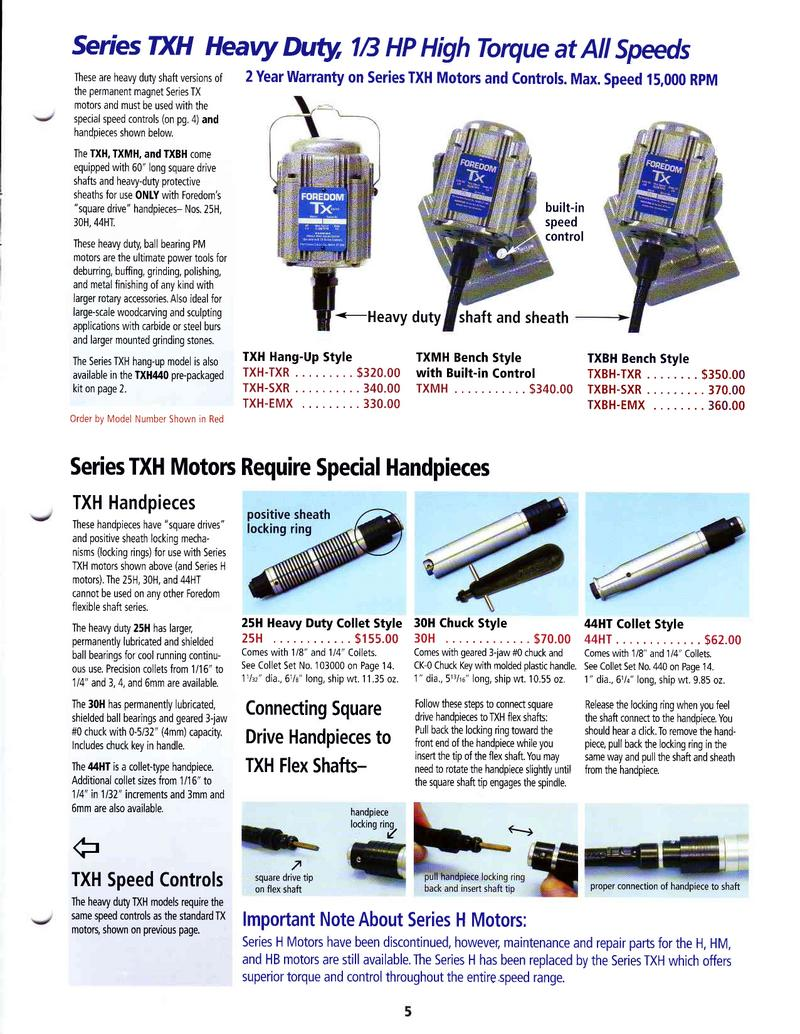 Power Tool Catalog and Price List by Foredom Power Tools and Accessories
