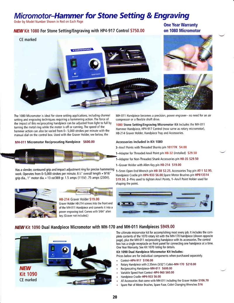 Page 20 of Power Tool Catalog and Price List