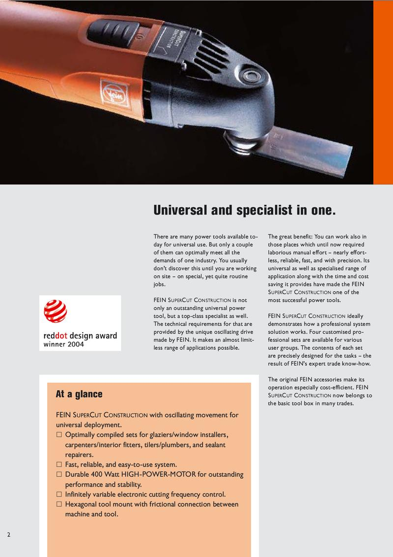 FEIN SUPERCUT CONSTRUCTION by C  & E  Fein GmbH