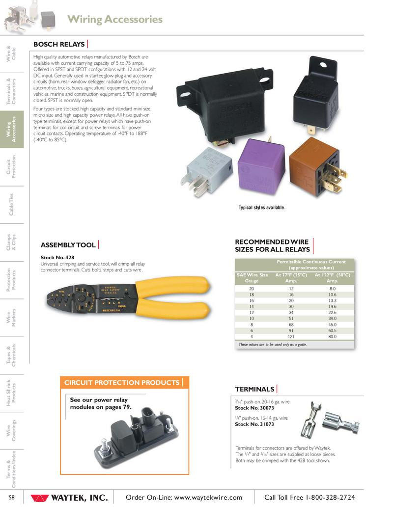 Relays Tools By Waytek Inc Micro Relay 12v Spdt 20 Amp