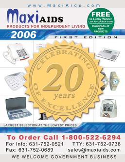 Maxi-Aids Products for Blind, Low Vision, Disabled 2006 1st Edition Catalog