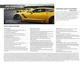 Corvette Z06 Spec Sheet 2015