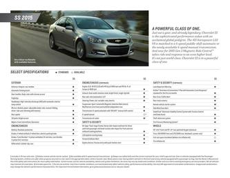 SS Sedan Spec Sheet 2015