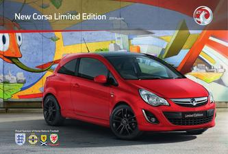 2011 New Vauxhall Corsa Limited Edition