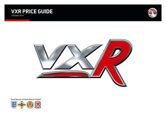 VXR Price and Specifications Guide 2014