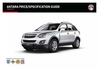 New Antara Price and Specifications Guide 2014