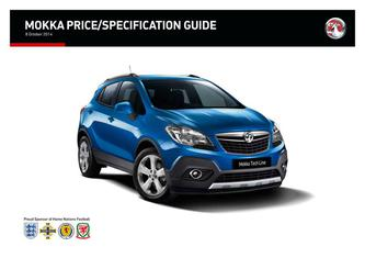 Mokka Price and Specifications Guide 2014