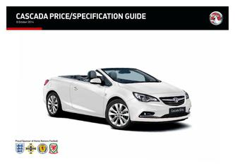 Cascada Price and Specification Guide 2014