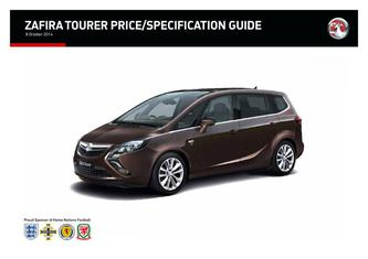 Zafira Tourer Price and Specifications Guide 2014