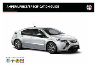Ampera Price and Specifications Guide 2014
