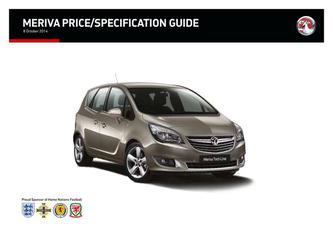 Meriva Price and Specifications Guide 2014