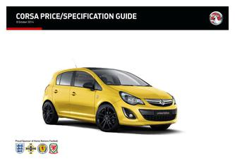 Corsa Price and Specifications Guide 2014