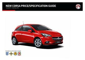 New Corsa Price and Specifications Guide 2015