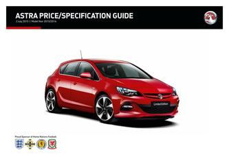 Astra Hatchback - Sports Tourer Price and Specifications Guide 2015