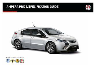 Ampera Price and Specifications Guide 2015