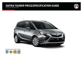 Zafira Tourer Price and Specifications Guide 2015