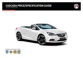 Cascada Price and Specification Guide 2015