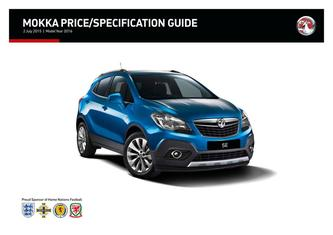 Mokka Price and Specifications Guide 2015