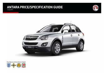 New Antara Price and Specifications Guide 2015