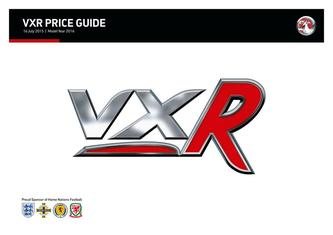 VXR Price and Specifications Guide 2015