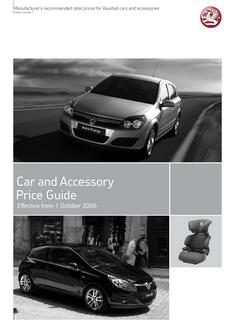 Vauxhall Price Guide 2006