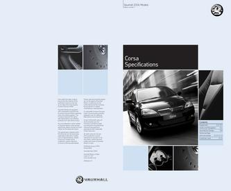 Vauxhall Corsa Specifications 2006