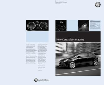 Vauxhall New Corsa Specifications 2006