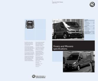 Vauxhall Movano Specifications 2006