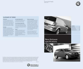 Vauxhall New Astravan Specifications 2007