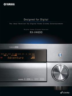 Digital Home Cinema Receiver RX-V4600 Brochure