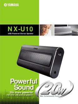 USB Powered Stereo Speaker NX-U10