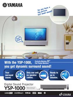 Digital Sound Projector YSP-1000 Flier