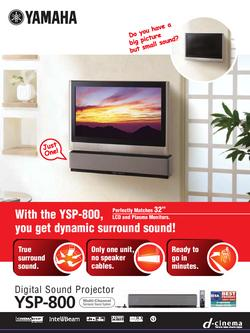 Digital Sound Projector YSP-800 Flier