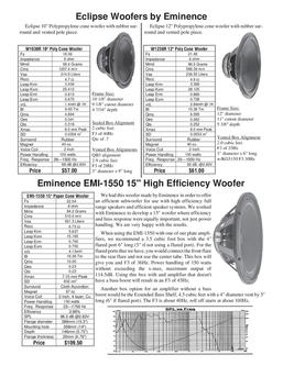 Eclipse Woofers Speakers