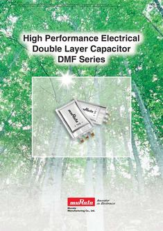 Electrical Double LayerCapacitor DMF Series 2013