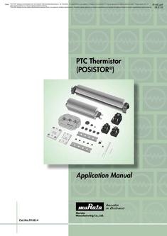PTC Thermistors POSISTOR® Application Manual 2008