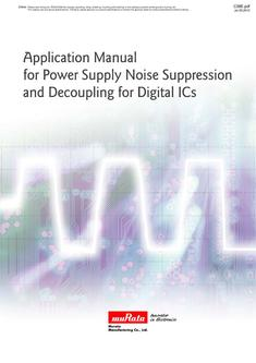 Application Manual for Power Supply Noise Suppression and Decoupling