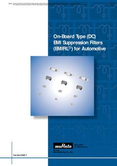 EMI Suppression Filters for DC for Automotive