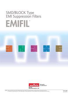 SMD/BLOCK Type EMI Suppression Filters EMIFIL®