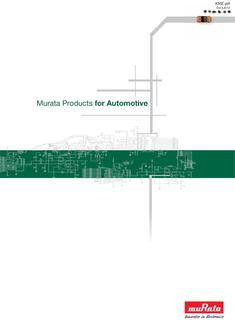Murata Products for Automotive 2012
