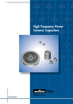 High Frequency Power Ceramic Capacitors