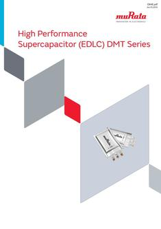 High Performance Supercapacitor (EDLC) DMT Series 15/06/2016