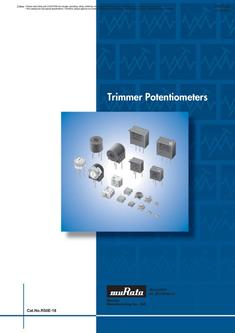 Trimmer Potentiometers 30/07/2012