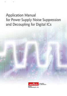 Application Manual for Power Supply Noise Suppression and Decoupling 26/07/2010