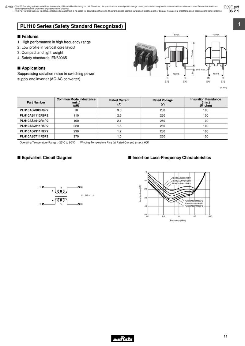 Page 13 Of Emi Suppression Filters For Ac Inductance In An Circuit P 25